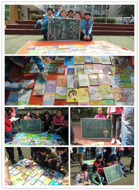 七彩的展板,黑板上的温馨提示,鲜艳的红色横幅,老师和同学们集思广益