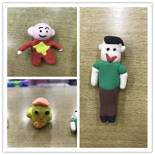 创意粘土课的开展是荣小一直坚持的校本培训中的一项,给了孩子们一个图片