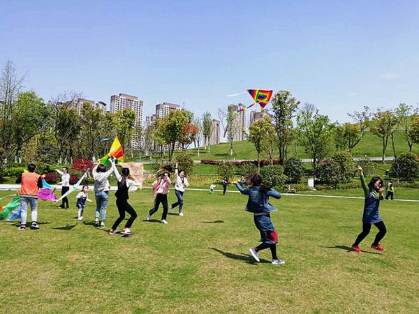 舒馨分园 拥抱春天,放飞梦想 之 放风筝 活动图片