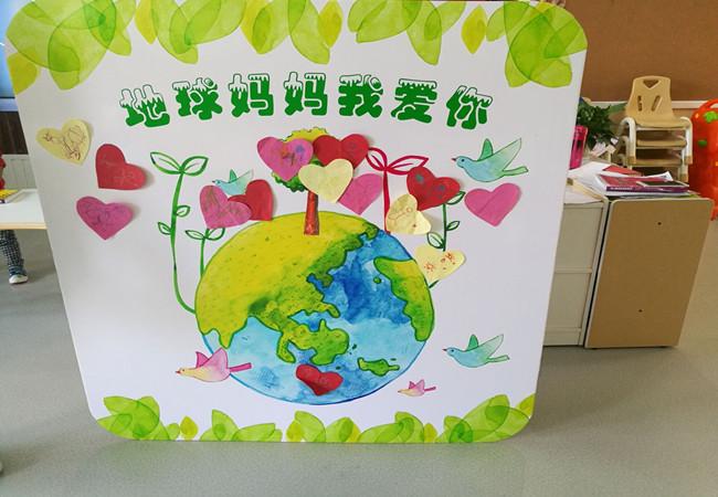爱护环境卡片手绘图案