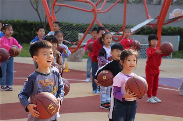 安幼教育集团城市之光分园---篮球运动助推幼儿健康成长