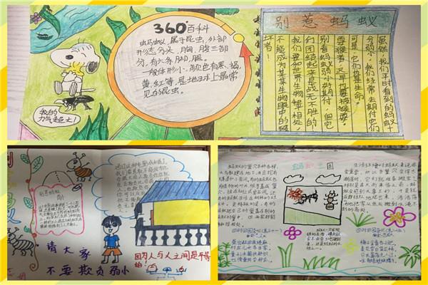 小学新闻     观影结束后同学们迫不及待拿起笔来,用绘画和手抄报的图片