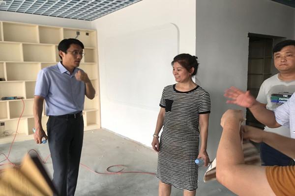 荣幼:庐阳区教体局领导深入丽水分园视察工程进度